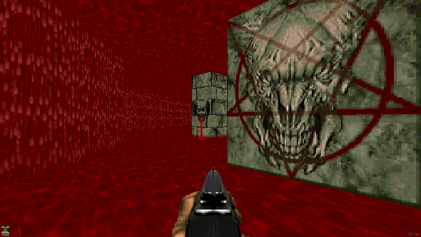 Screenshot from Doom 2 .wad file The Fluid Pit