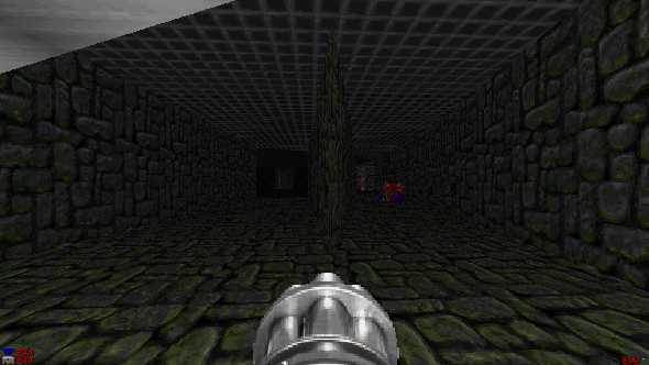 Screenshot from the Doom 2 .wad file The Fluid Pit